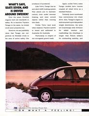 1992 Toyota Tarago 7 Or 8 Seat Van Page 1 Aussie Original Magazine Advertisement (Darren Marlow) Tags: 1 2 7 8 9 19 92 1992 t toyota tarago s seat v van w wagon c car collectible collectors classic a automobile vehicle j jap japan japanese asian 90s