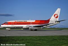 Frontier Airlines B737-291/Advanced N7397F (planepixbyrob) Tags: frontierairlines frontier boeing 737200 n7397f vancouver yvr kodachrome vancity