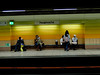 Grouping (A. Yousuf Kurniawan) Tags: trainstation people minimalism minimalist muslim streetphotography urbanlife colourstreetphotography decisivemoment yellow sign waiting