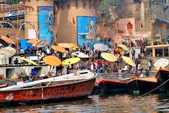 Ghats in Varanasi (pallab seth) Tags: banaras varanasi india ghats devotee pilgrim pilgrimage bathing