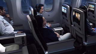 West Jet - Premium Economy in flight entertainment