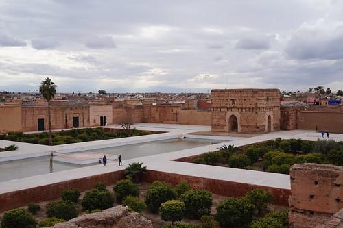 El Badii Palace, Marrakech garden and courtyard, Morroco
