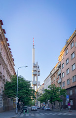 Žižkov Television Tower (flrent) Tags: prague czech republic europe travel city žižkov television tower žižkovský vysílač