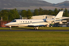 M-GASG Gulfstream 150 EGPH 16-05-18 (MarkP51) Tags: mgasg gulfstream 150 bizjet corporatejet edinburgh airport edi egph scotland aviation aircraft airplane plane image markp51 sunshine sunny airliner nikon d7200 aviationphotography