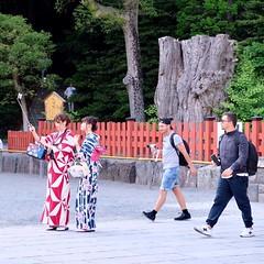 Yukata is a traditional Japanese costume worn during the summer season. (Makoto A) Tags: snapshot shonan kamakura xf1855 fujifilmxt20 fujifilm xt20