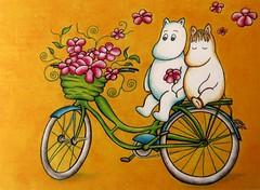 My own collection of Moomin postcards (Zaijda) Tags: moomin muumi mumin moomins flowers flower bicycle orange cute sweet kawaii love postcard postcardexchange snailmail