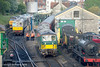 73133, 73136 and 33012 at Swanage (jon33040) Tags: class73 73136 swanage 73133 33012 class33 swanagerailway