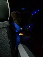 341/365 - Pukey man (Spannarama) Tags: 365 december man seat coach nationalexpress dark evening reflections m4 uk
