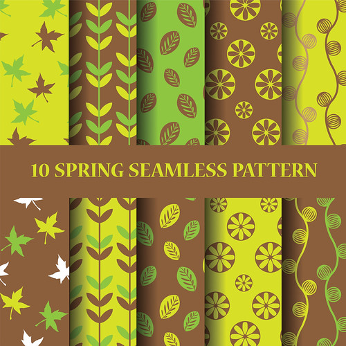 "green and brown sping seampless pattern set • <a style=""font-size:0.8em;"" href=""http://www.flickr.com/photos/151084956@N05/27815813668/"" target=""_blank"">View on Flickr</a>"