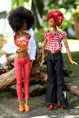 like your new top, bobby-jean! (photos4dreams) Tags: barbie mattel doll toy diorama photos4dreams p4d photos4dreamz barbies girl play fashion fashionistas outfit kleider mode puppenstube tabletopphotography aa beauties beautiful girls women ladies damen weiblich female funky afroamerican afro schnitt hair haare afrolook darkskin africanamerican bobbyjean