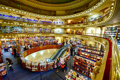 Bookstore in Buenos Aires, Argentina (` Toshio ') Tags: toshio buenosaires argentina elateneograndsplendid bookstore theater books people city interior southameica architecture fujixt2 xt2