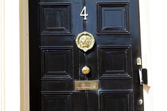 Door Number Four (House Buy Fast) Tags: 4 four door number black lion knocker free image stock photo stockphoto freeimage
