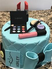 MAC makeup cake (thedeguzmans1) Tags: fondant teal makeup birthday cake