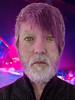 Infected with the 80s (llamnudds) Tags: human hair pink purple 80s waroftheworlds yellow eyes yelloweyes beard jumper cardigan
