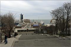 Потемкинская лестница (vikkay) Tags: одесса улица потемкинскаялестница лестница порт гостиница пейзаж море весна