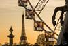 Paris at the golden hour (Julien CHARLES photography) Tags: eiffel eiffeltower france paris tuileries concorde horse placedelaconcorde sunset