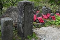 headhunted Buddha statues (kasa51) Tags: stone buddhastatue nohead headhunt hakone kanagawa japan 石仏 首なし 箱根 廃仏毀釈 statue sculpture