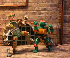 Mike vs Rat King.. (Mike's Toy Story) Tags: ninja turtles rat king playmates 1988 vintage retro