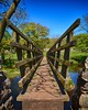 A Bridge Across the River Wharfe (_J @BRX) Tags: bridge wooden footpath starbotton yorkshiredales dales valley river riverwharfe geology wharfedale craven yorkshire england uk spring may 2018 sky green blue nikon d5100 sunshine walk