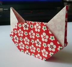 Origami Cat Box (Handmade by Deb) Tags: handmade japanese origami cat box tomokofuse