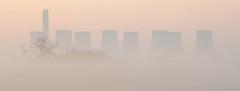 Looming Ratcliffe (Julian Barker) Tags: hemington ratcliffe on soar power station nottingham leicestershire mist fog looming shapes outlines tree dawn sunrise canon dslr 5d mkii julian barker england east midlands uk europe