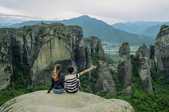 Enjoying the view (dtavlikos) Tags: nikon fa kodak cp200 colorplus landscape couple conceptual motivational edge tourist greece meteora kalampaka καλαμπάκα μετέωρα θεσσαλία ελλάδα hellas thessaly nfakodakcp20078771479 grainpeeper