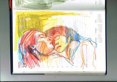 ANGELES (2) (GARGABLE) Tags: angelbeltrán apuntes drawings técnicamixta lápicesdecolores gargable cuaderno