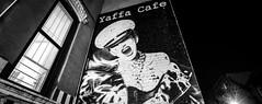 Yaffa Cafe (dansshots) Tags: yaffacafe yaffa eastvillage stmarksplace nyc newyorkcity newyork iloveny mural bnw blackandwhite blackandwhitephotography blackandwhitephoto blackandwhitenewyorkcity newyorkatnight classic picoftheday pictureoftheday nikon