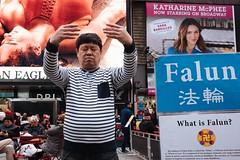 Meditation, NYC 2018 (monoauge) Tags: 2018 fuji fujix70 fujifilm fujifilmx70 nyc usa x70 meditation timessquare manhattan midtownmanhattan midtown newyork newyorkcity street streetshot falun streetphotography people canpubphoto decisivemoment unposed