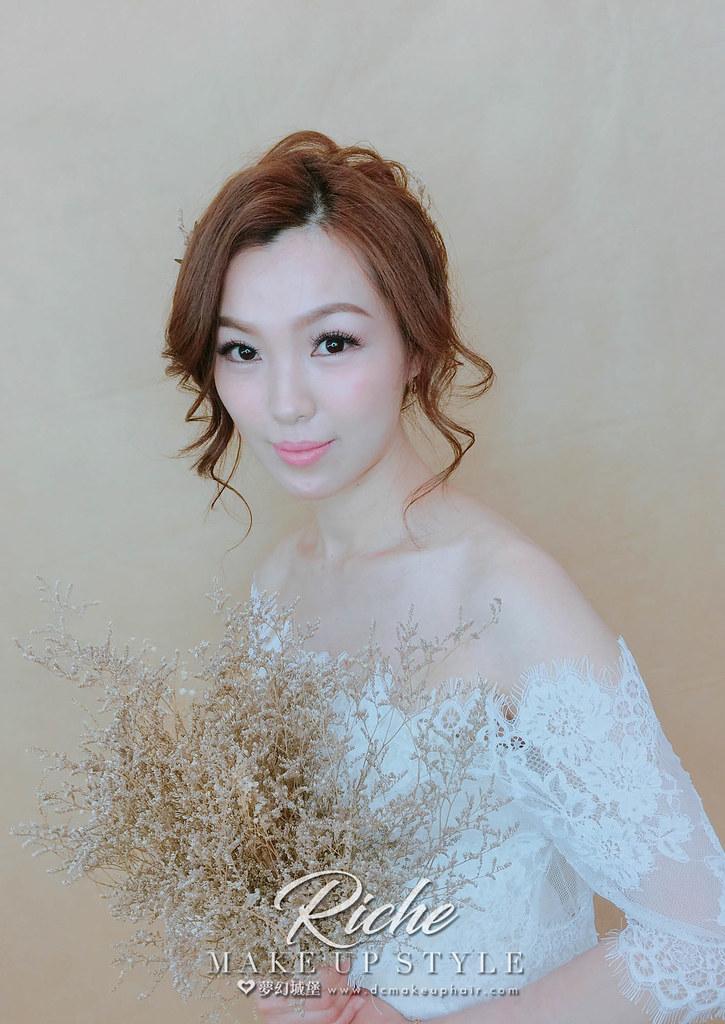 【新秘RICHE】新娘造型創作 / 乾燥花盤髮