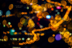 the light  of the night (mariola aga) Tags: night city street lights bokeh blur abstract art