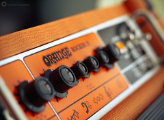 Orange (PiscesDreamer) Tags: orangerocker15 amp combo amplifier guitar electricguitar logo knobs hieroglyphics dials