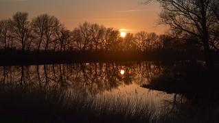 An der Steinschleuse - Sonnenuntergang an der Eider; Süderstapel, Stapelholm (18)