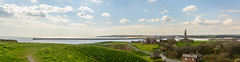 Tynemouth-Pano-1 (stevefge) Tags: 2018 newcastle northeast tynemouth uk coast monument rivers sea landscape panorama reflectyourworld pier horizon houses road
