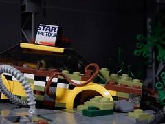 NYC 2049 ビッグアップル ([E]ddy) Tags: lego bricks tfol apocalypse brickbuilt 2049 nyc speederbike minifigures minifiguren minifigs moc minifigure minifig minifiguur future night foodshop legography cyberpunk cybercity