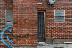 Half A Smiley (pni) Tags: wall tile door smiley face blue red karis karjaa finland suomi pekkanikrus skrubu pni