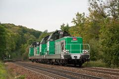 Trois 69400 à proximité de Chalindrey (Trains-En-Voyage) Tags: sncfbb69400 hlp tm ligne4 livreefret