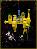 Frontier Base 'Daniel Boone' (Karf Oohlu) Tags: lego moc vignette scifi microscale microspacetopia spacebase rocketship spaceship space