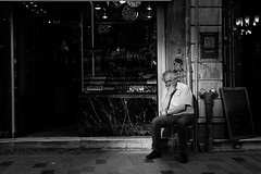 Tradesman... (K.BERKİN) Tags: window turkey tourism tradesman oldman people pera alpha anatolia street streetphoto streetphotograpy sony6300 goldenhorn business human job life blackwhite istiklal istanbul city bosphorus beyoglu mirroless man