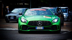 IMGP0762  Mercedes AMG GTR (Claudio e Lucia Images around the world) Tags: mercedes amg gtr engine 40liter v8 biturbo power 430 kw 585 hp acceleration 36 s 0100 kmh torque 700 n milano millemiglia race rally historicrally mercedesamg