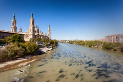 Ebro River and the Basilica of Our Lady of Pilar_4459 (hkoons) Tags: basilicaofourladyofpilar bayofbiscay ebroriver northernspain westerneurope atlantic basque city europe european iberia spain spanish zaragoza architecture baroque