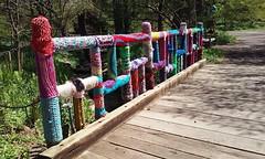 0426161232i (C_K_L) Tags: yarnbombing crochet publicart morrisarboretum fiberart yarn cameraphone