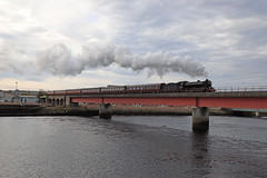Day 4 of the Great Britain tour (Andrew Edkins) Tags: bridge river railwayphotography beaulyfirth 1264 b1class travel trip steamtrain thegreatbritainxi light uksteam geotagged canon mainlinesteam lner april 2018 spring overcast cloudy scotland inverness highlands exhaust