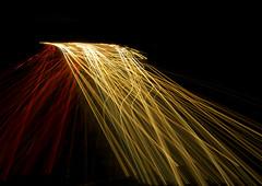 Intersect (SkyeBaggie) Tags: light trails motorway m6 night headlight taillights