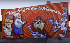 Thanks for the Memories (J-C-M) Tags: looneytunes street wall art streetart wallart paint painting cartoon characters bugs bunny taz elmer fudd melbourne victoria australia