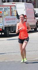 Orange and Black (Waterford_Man) Tags: orange shorts hot run runner running jog jogger jogging girl london people path