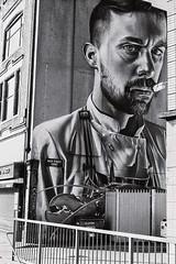 ISO 400 (Bokehlicious Harold) Tags: canonae1program iso 400 street art belfast bw