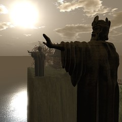 Fandao - Lord of The Rings (Loegan Magic) Tags: secondlife fandao lordoftherings statues fantasy landscape