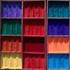 Farbtöpfe (zeh.hah.es.) Tags: nepal kathmandu farben colours colors pigmente rot red blau blue gelb yellow grün green orange magenta violett blauviolett purple rotviolett pashupatinath