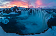 Iceland Colours (el_farero) Tags: godafoss iceland waterfall sunset landscape canon water clouds farero cascada islandia paisaje colores